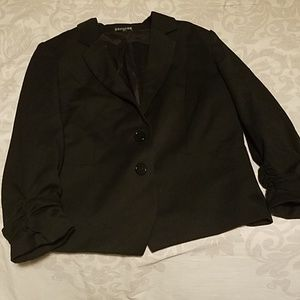 Rouched sleeved blazer
